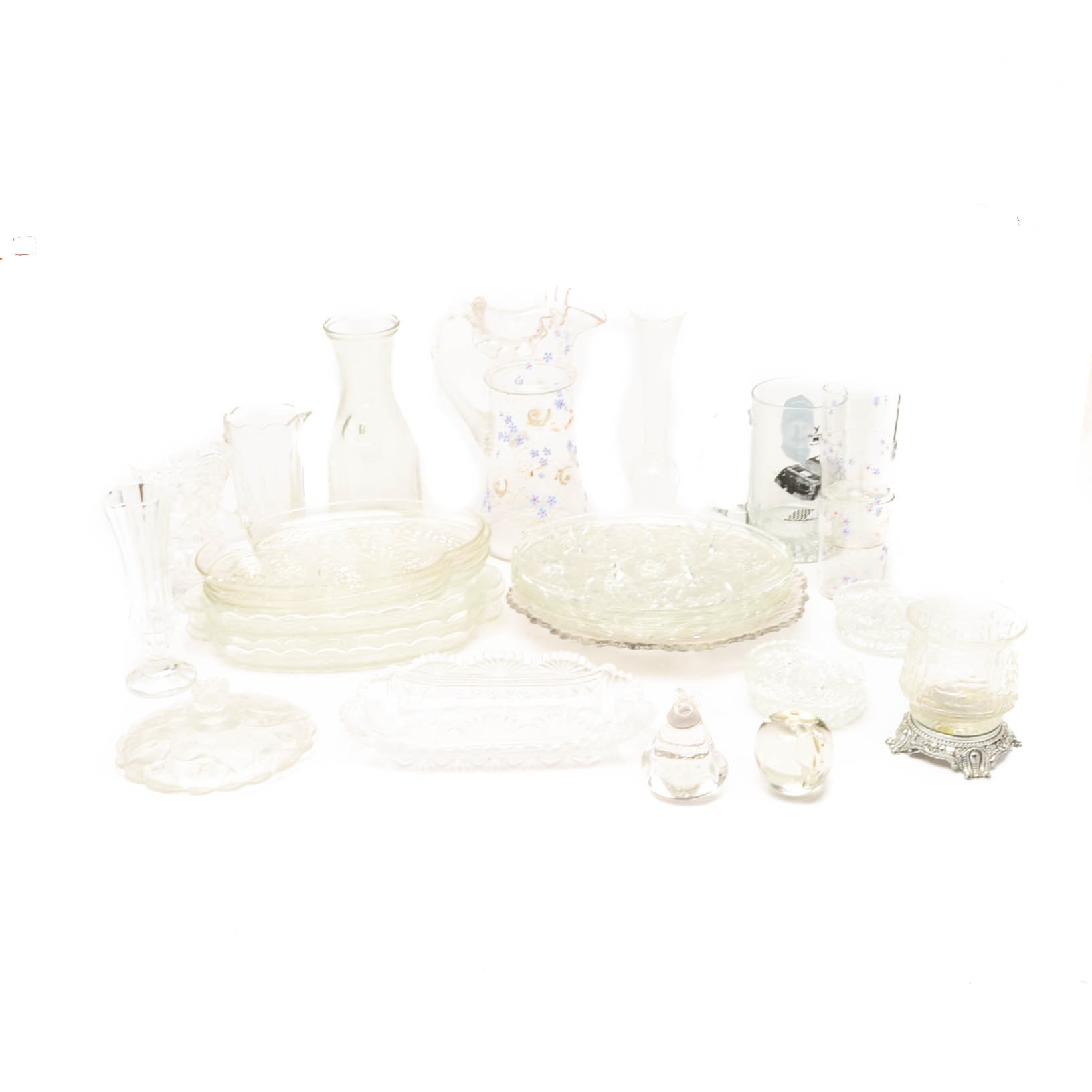 Assorted Glassware and Serveware Featuring Mikasa