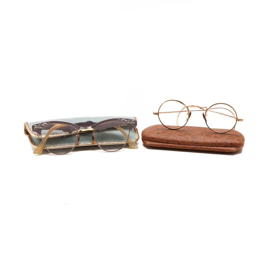 7e622d33260 Vintage Reading Glasses with Cases   EBTH