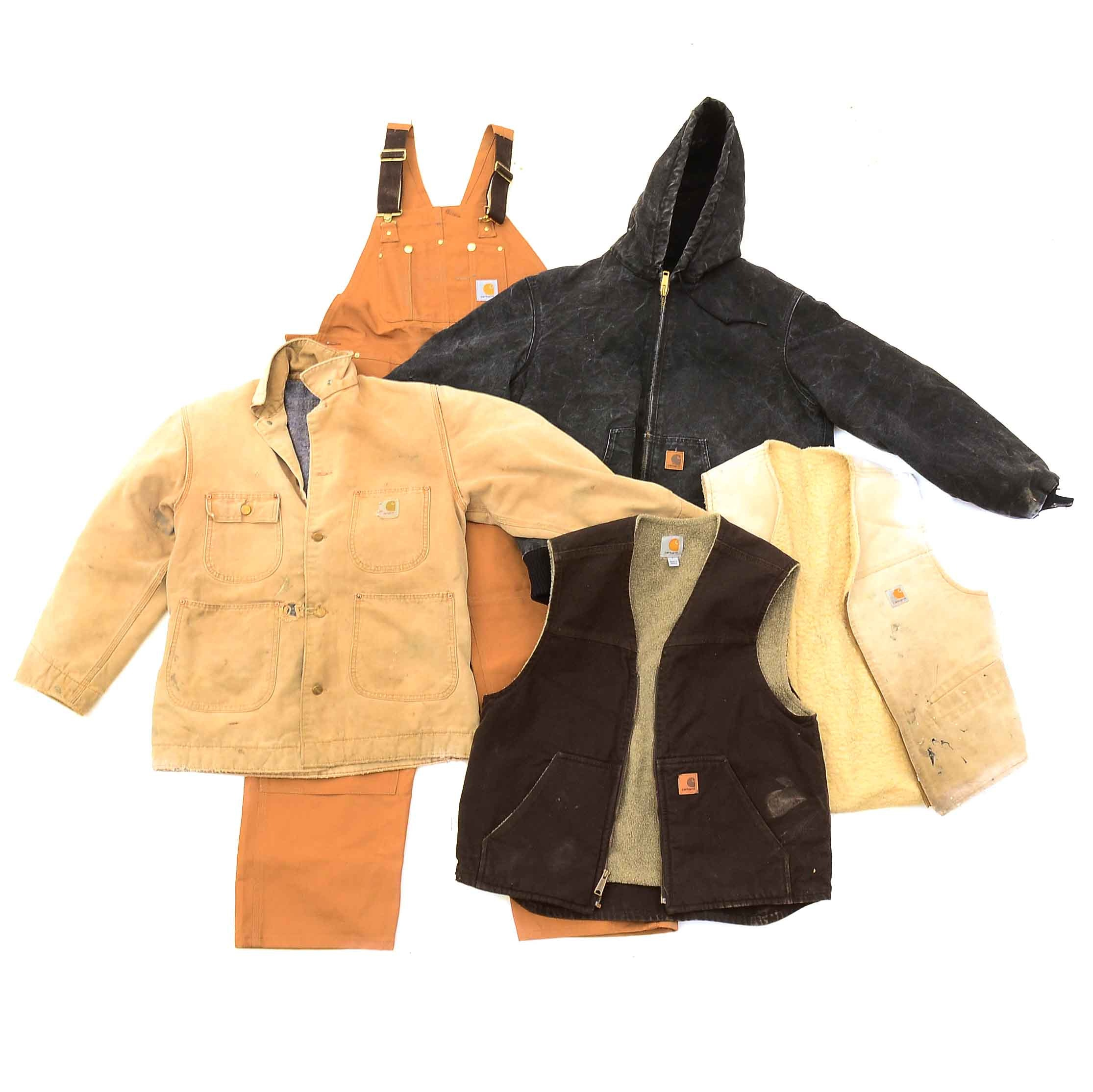 Five-Pieces of Carhartt Canvas Work Clothes
