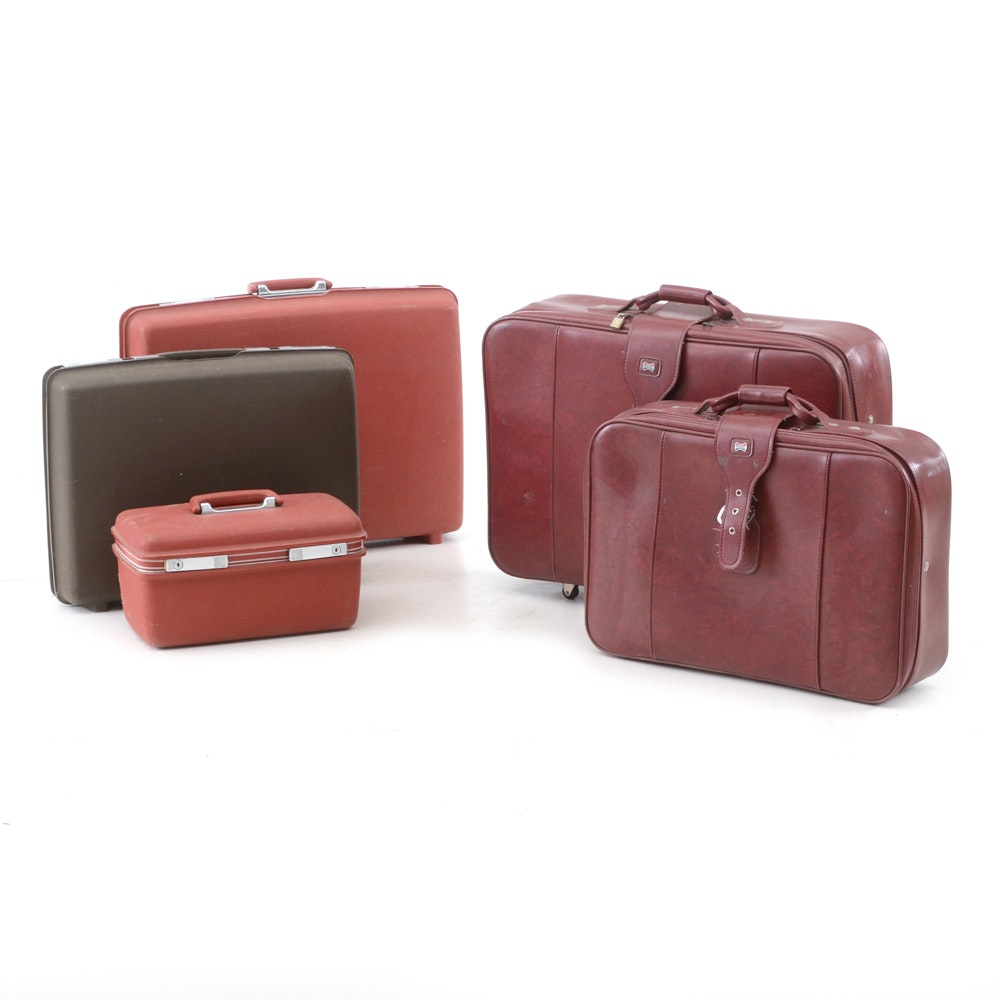 Five Pieces of Luggage from Samsonite and American Tourister