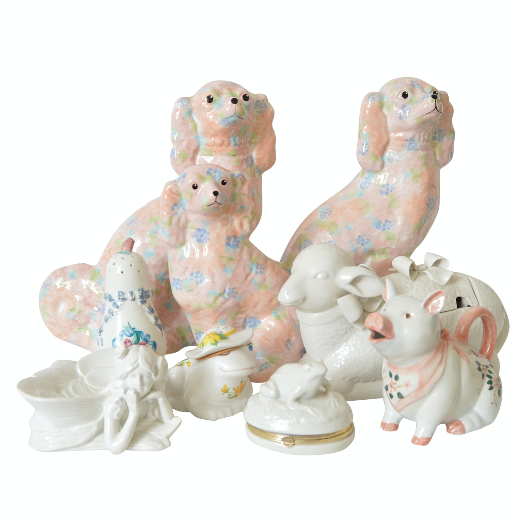 Porcelain Animal Figurines with English Spaniels