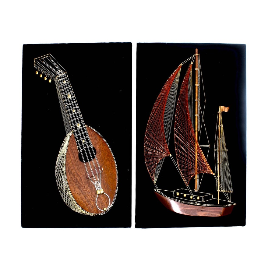 1970s Nail, String and Metal Art : EBTH