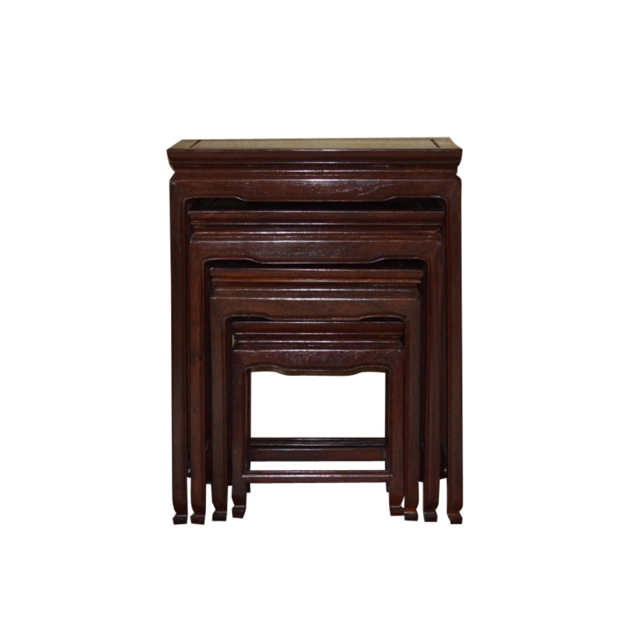 Four Wooden Nesting Tables