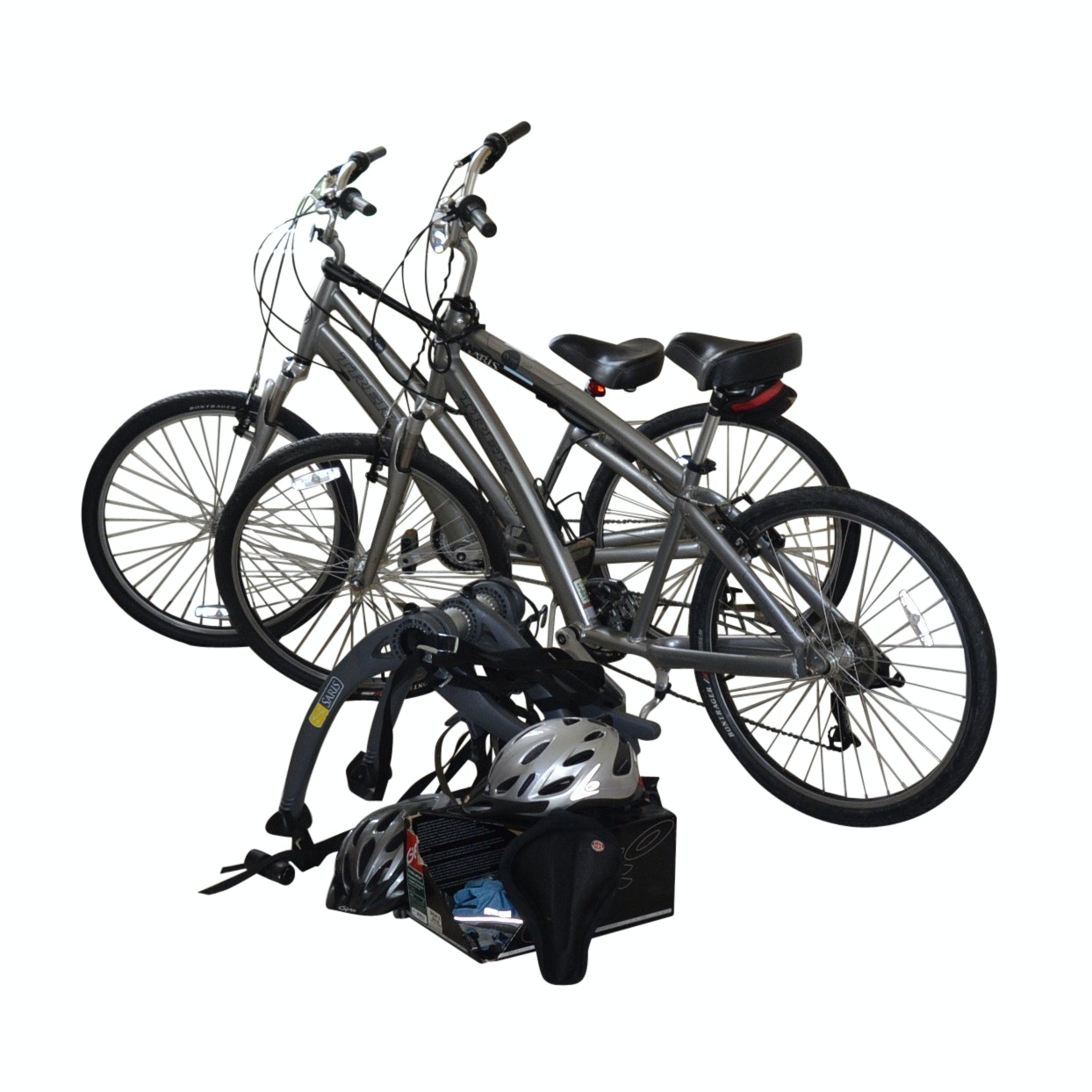 Pair of Trek Pure Sport Bicycles and Accessories