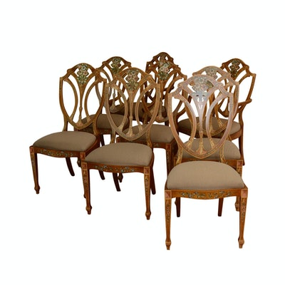 Eight Valerie Makstell Dining Chairs - Online Furniture Auctions Vintage Furniture Auction Antique