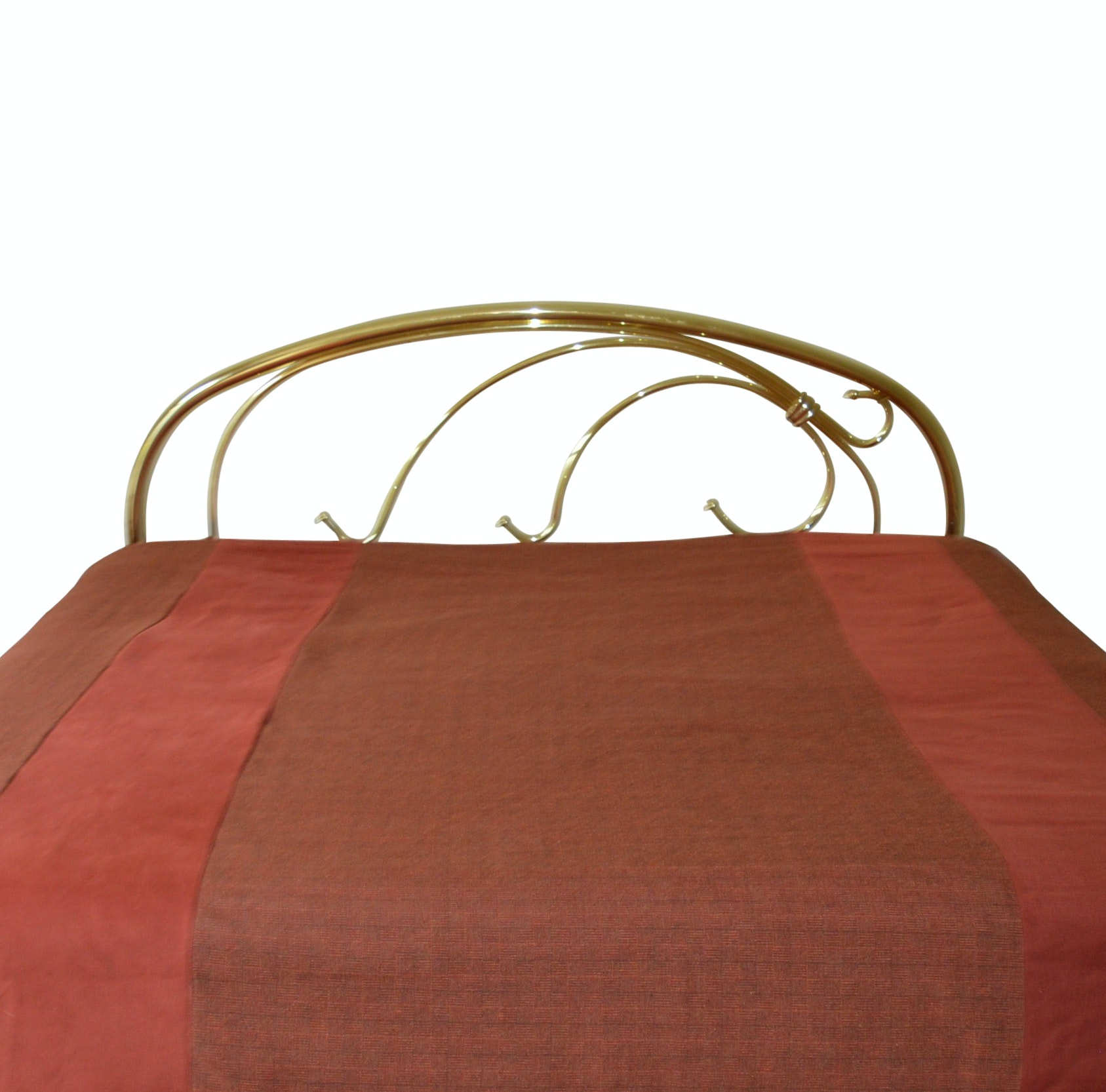 Brass Headboard (king) with Metal Bed Frame
