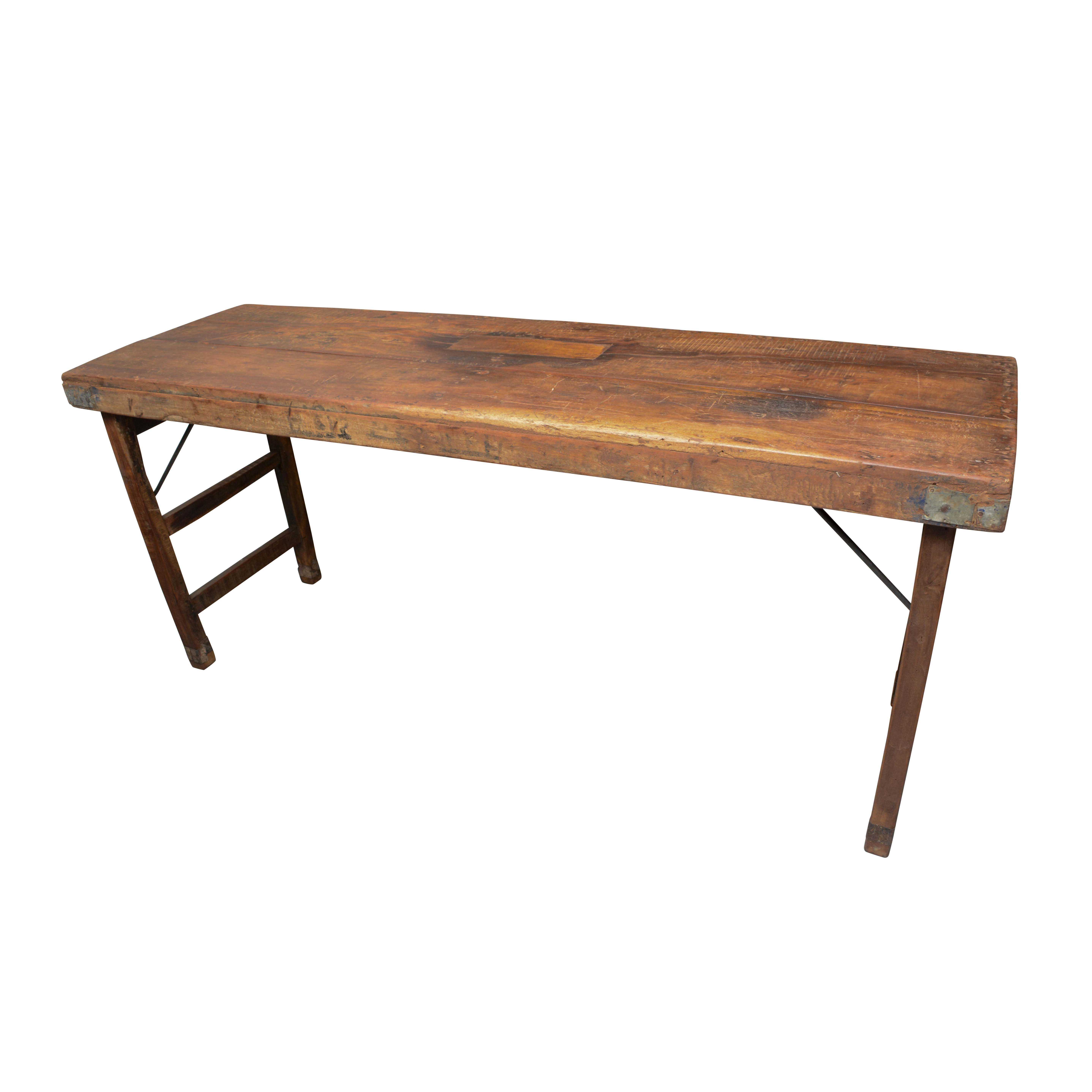 Rustic Style Wooden Folding Table