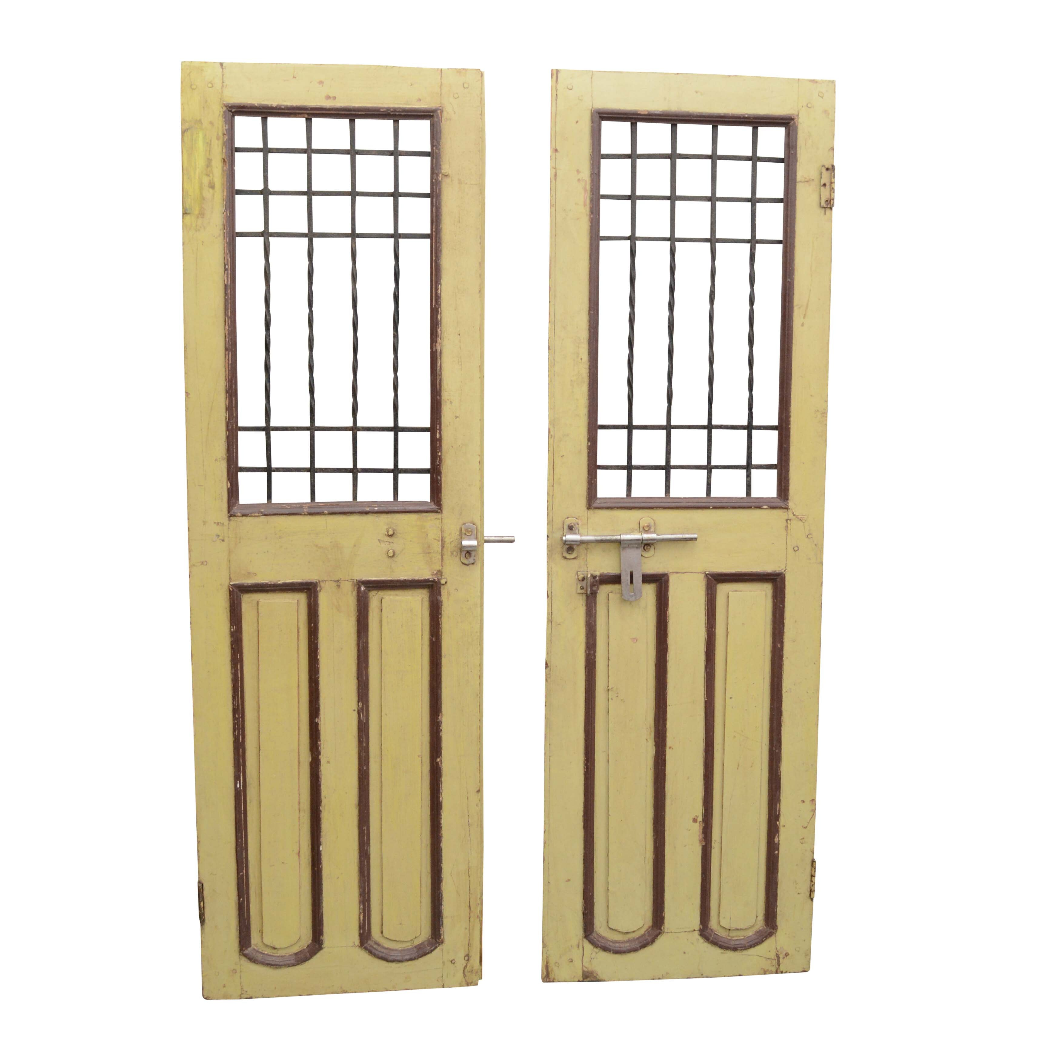 Vintage Wood and Wrought Iron Doors