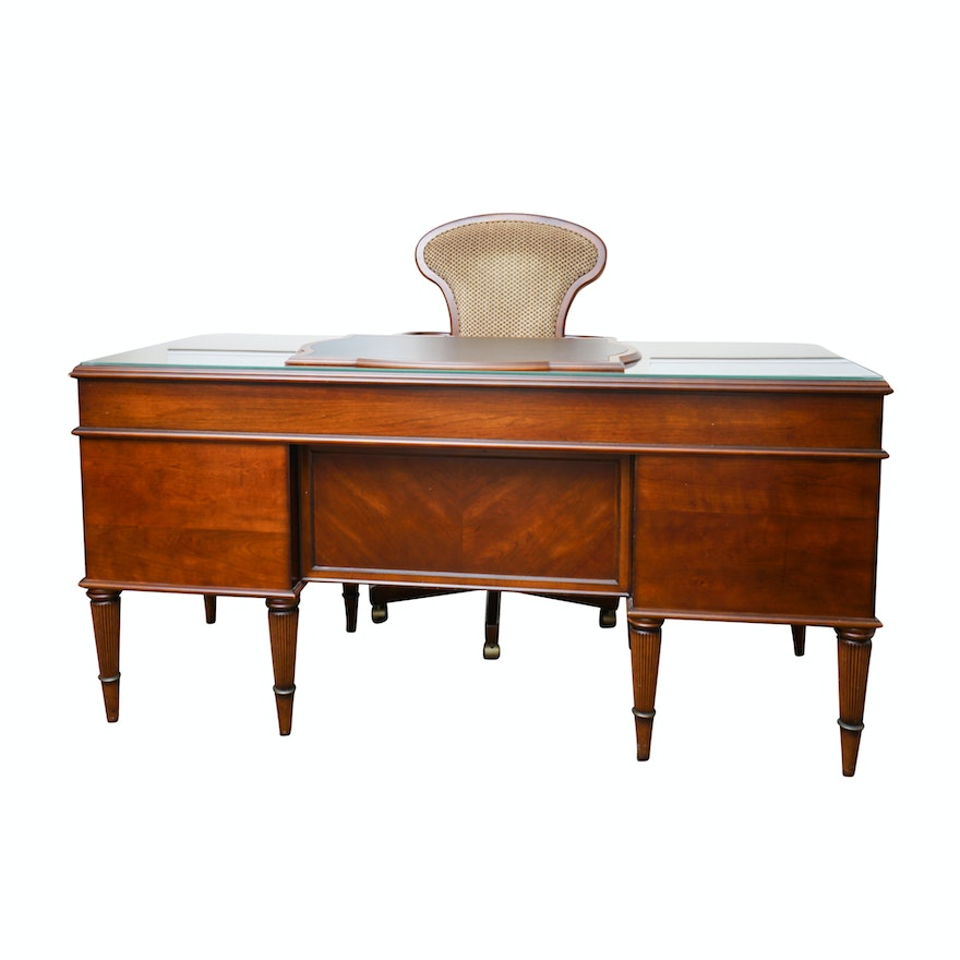 Excellent French Neoclassical Style Executive Desk With Chair By The Bombay Company Gmtry Best Dining Table And Chair Ideas Images Gmtryco