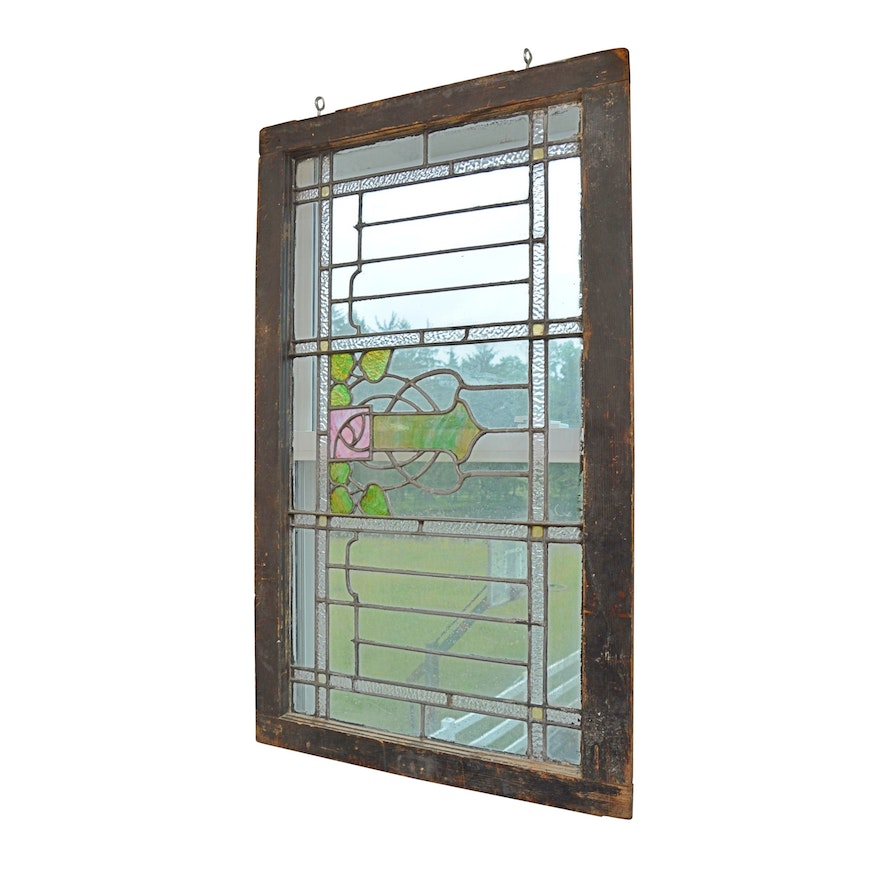 Vintage Stained Glass Window Ebth