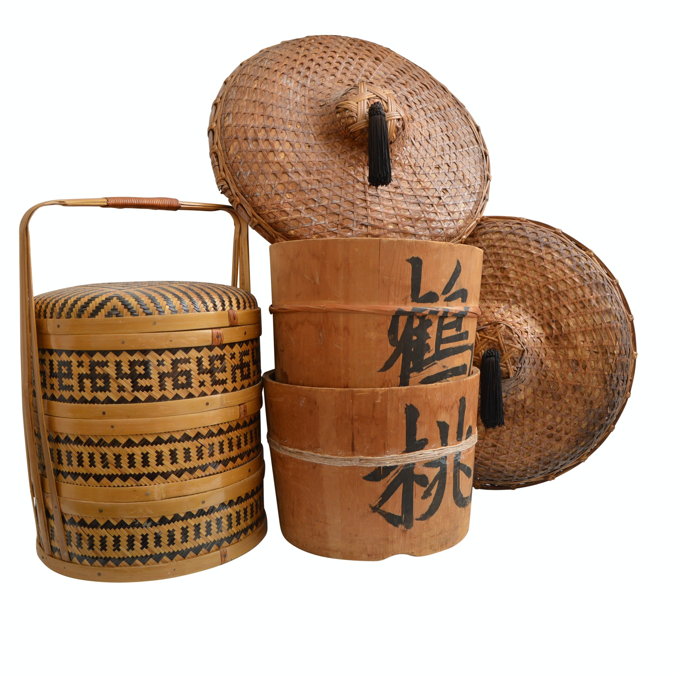 Vintage Chinese Baskets and Hats
