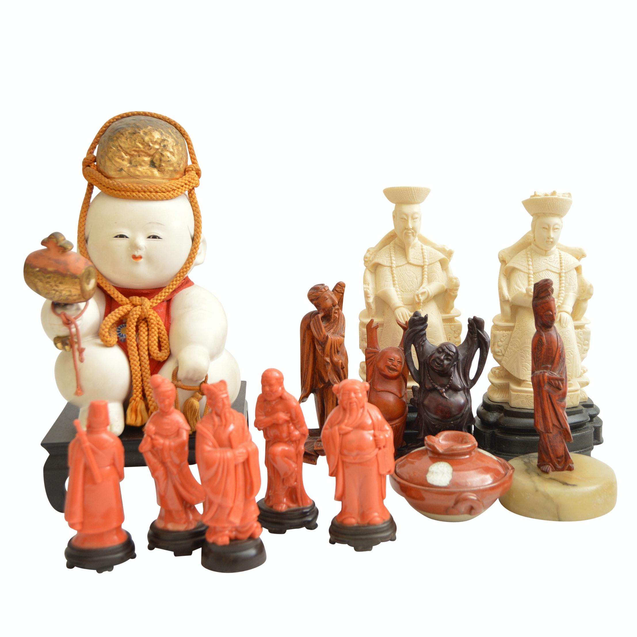Vintage East Asian Figurines