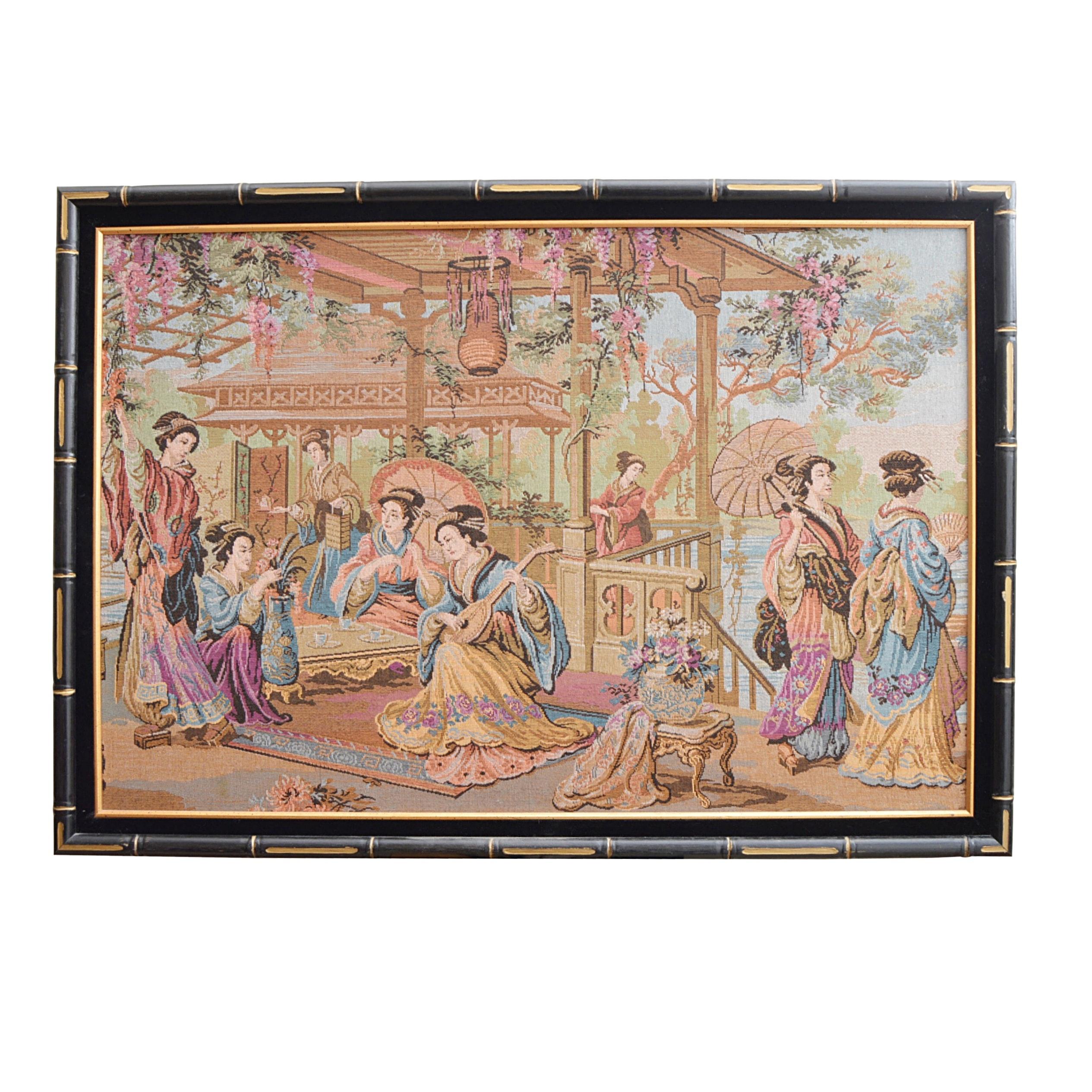 Vintage Japanese Inspired Tapestry