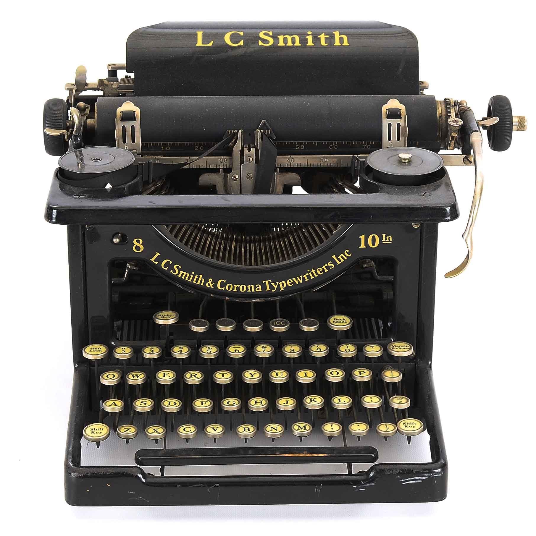 Antique LC Smith & Corona Typewriter