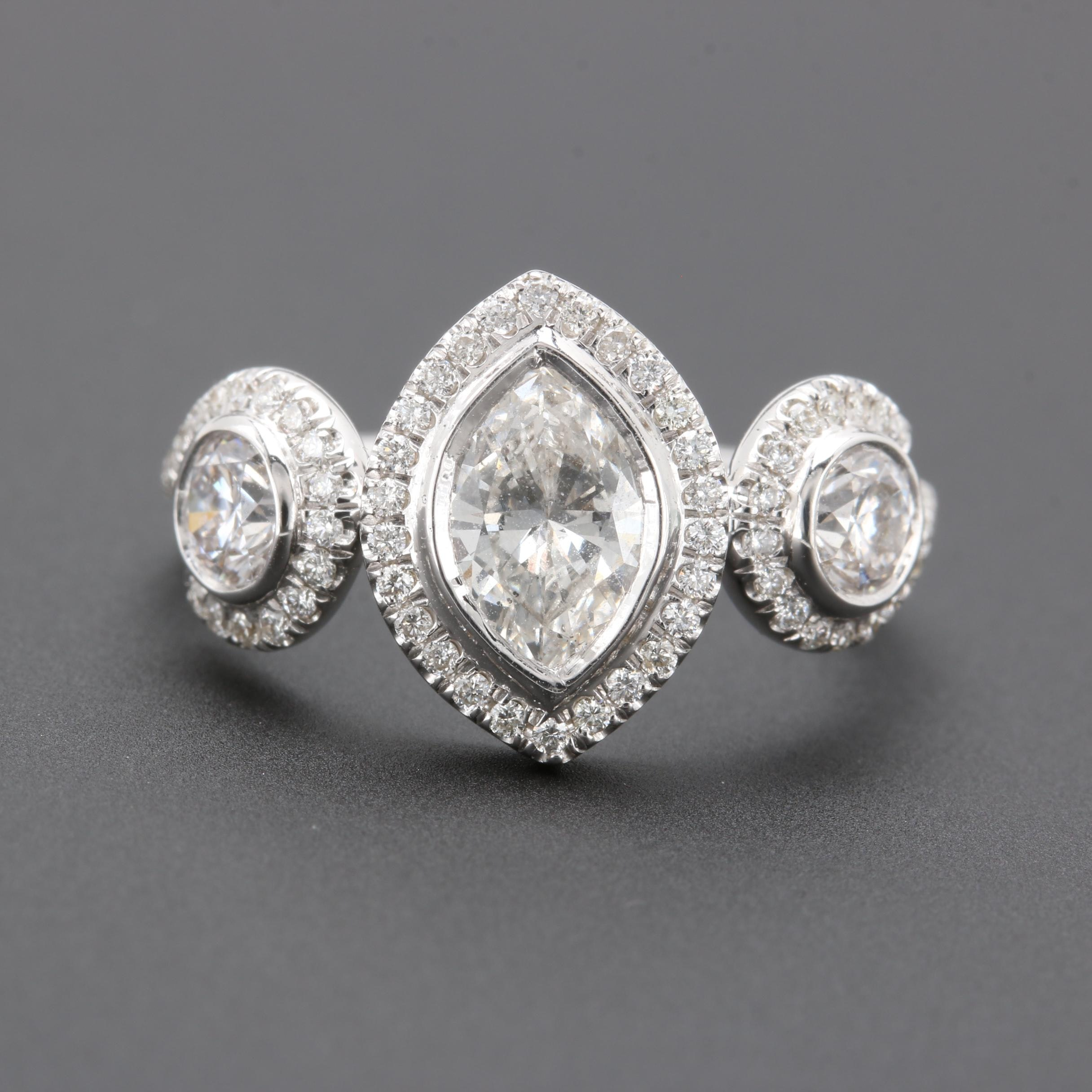 18K White Gold 1.46 CTW Diamond Ring