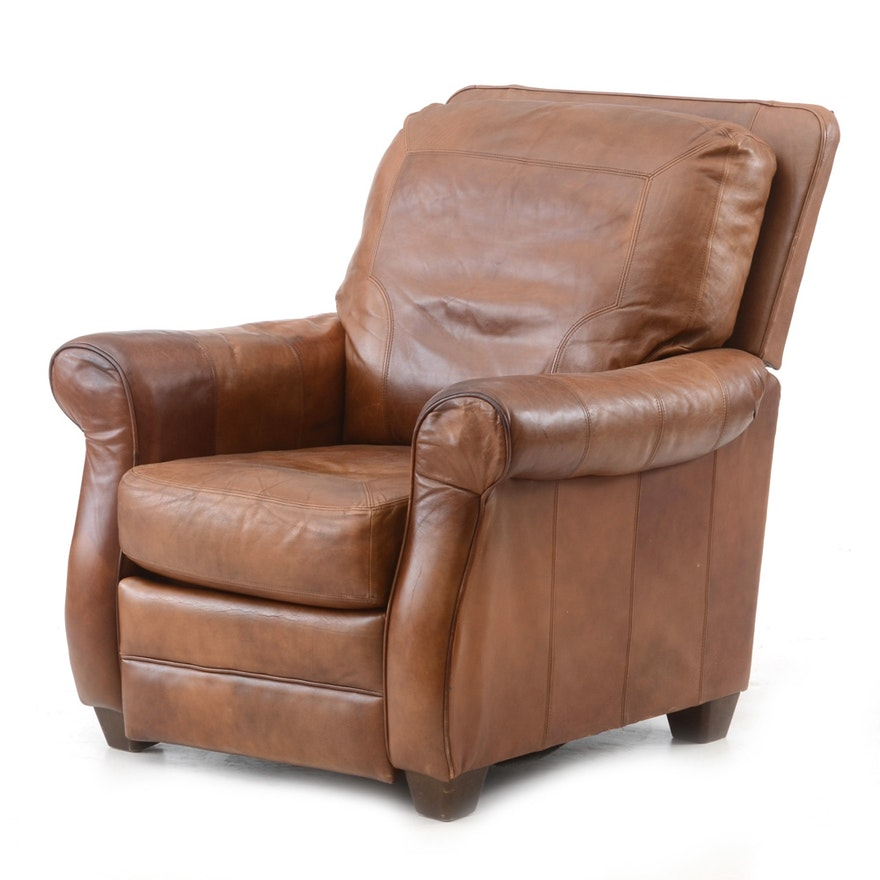 Tan Leather Recliner By Lane Furniture