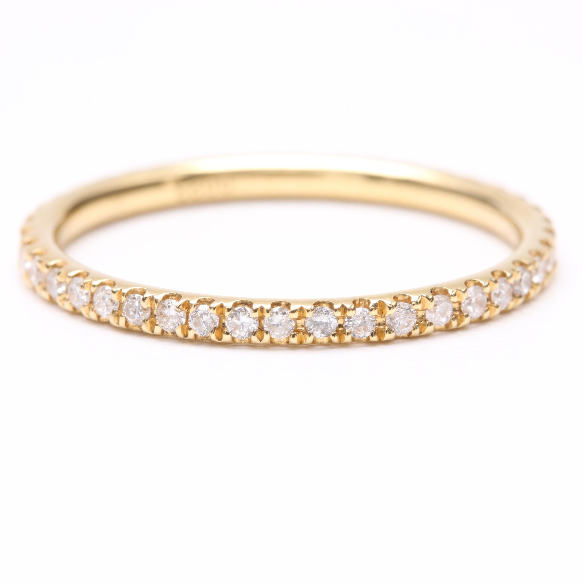 18K Yellow Gold Diamond Eternity Ring
