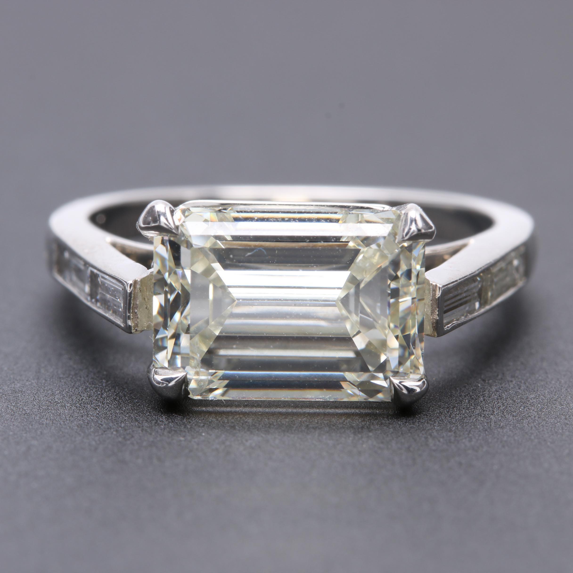 Platinum 4.50 CTW Diamond Ring