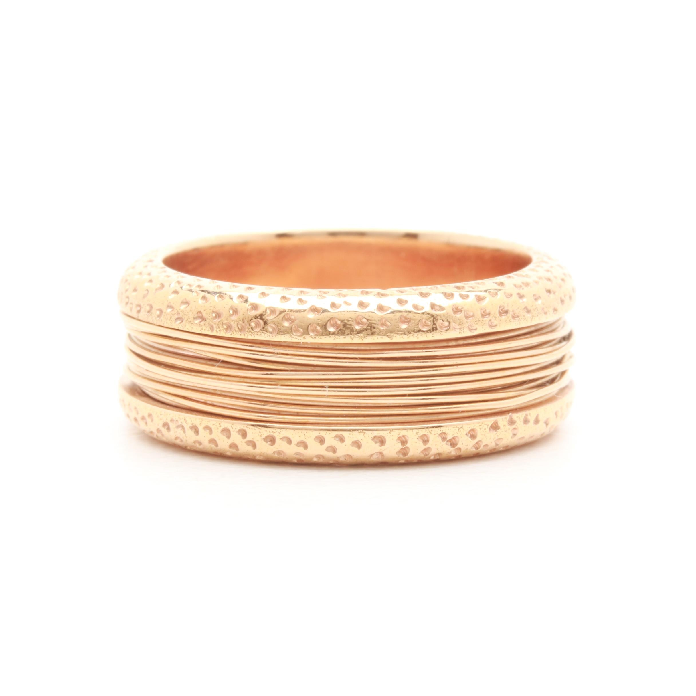 18K Yellow Gold Wire Wrapped Ring