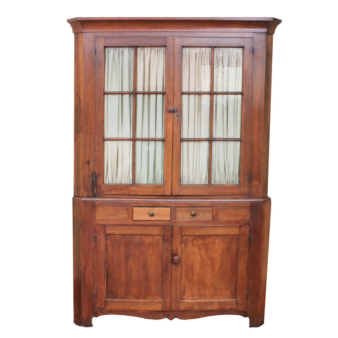 Antique Pine Corner Cupboard  sc 1 st  Everything But The House & Vintage and Antique Cabinets Auction in Collectibles Home ...