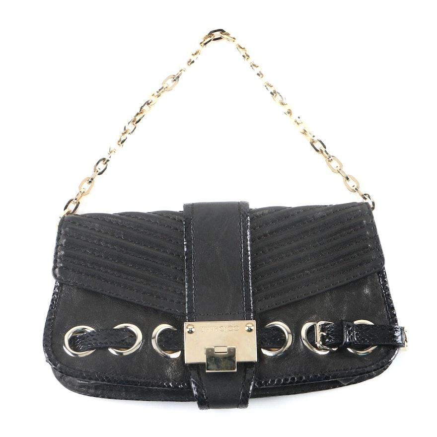 5405d6582b3 Jimmy Choo Black Leather and Snakeskin Handbag   EBTH