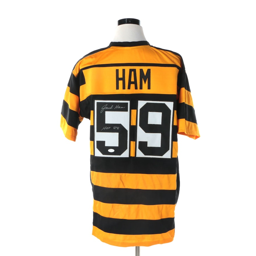 best service 3b7e1 a1146 Jack Ham Autographed Pittsburgh Steelers Throwback Jersey - JSA COA