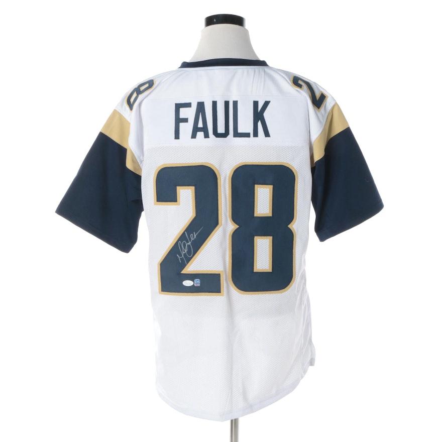 535970d09 Marshall Faulk Autographed St. Louis Rams Jersey - JSA COA   EBTH