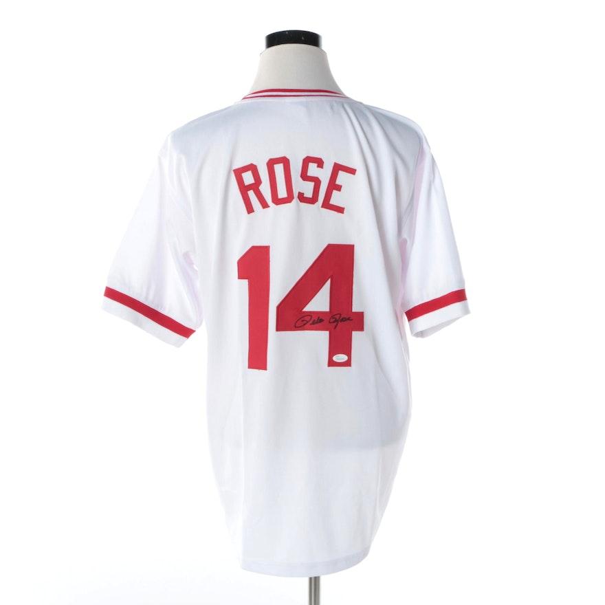 bc54940ad55 Pete Rose Autographed Cincinnati Reds Jersey - JSA COA   EBTH