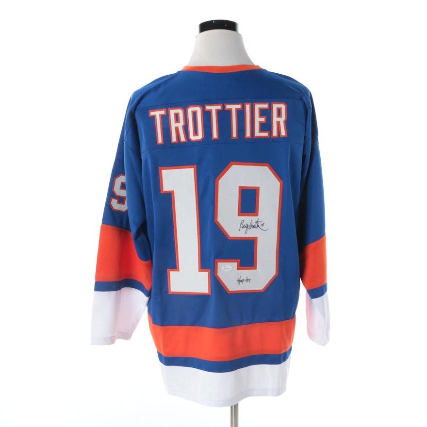 the best attitude bd2ec 760ee Bryan Trottier Autographed New York Islanders Jersey - JSA COA