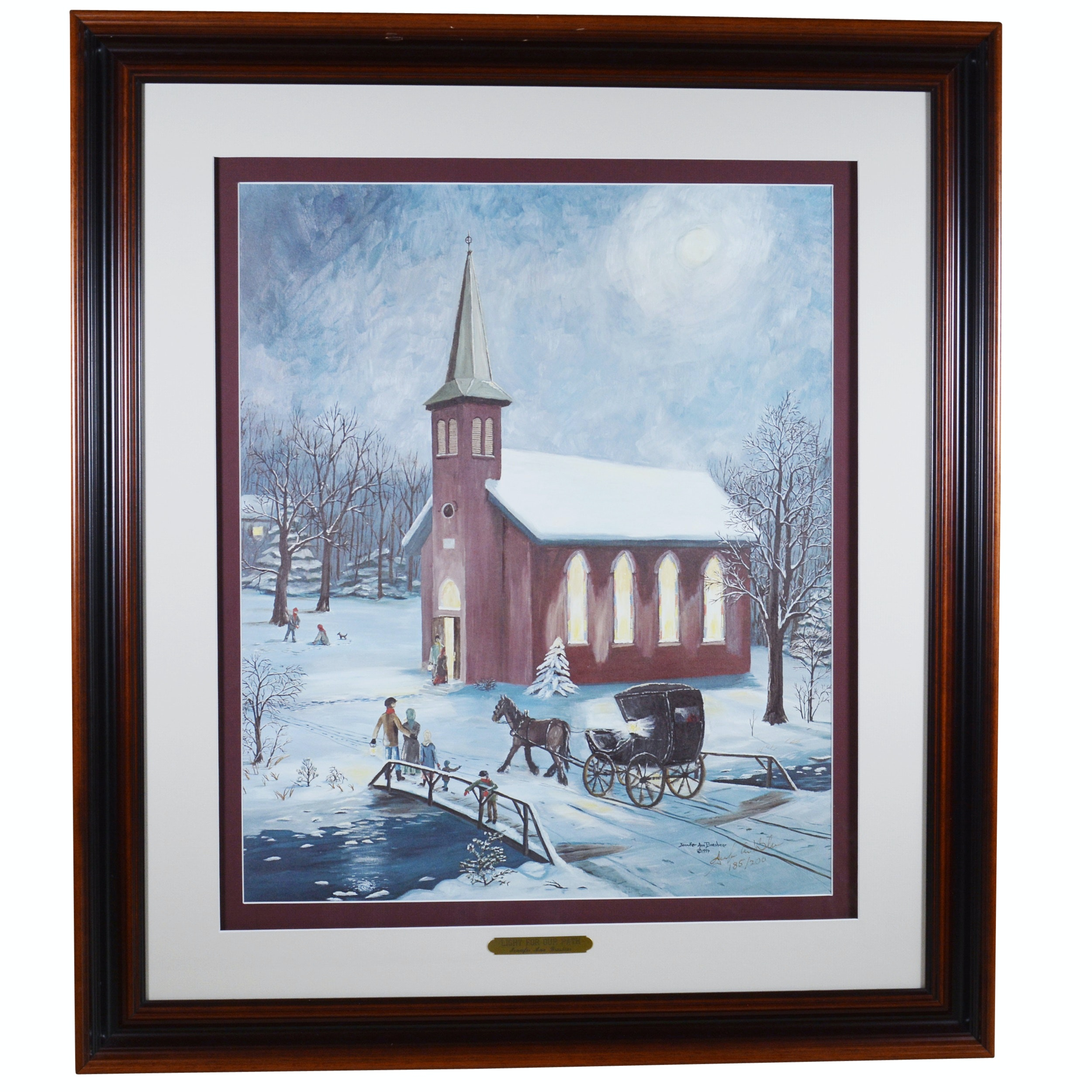 """Jennifer Ann Brashear Limited Edition Offset Lithograph """"Light For Our Path"""""""