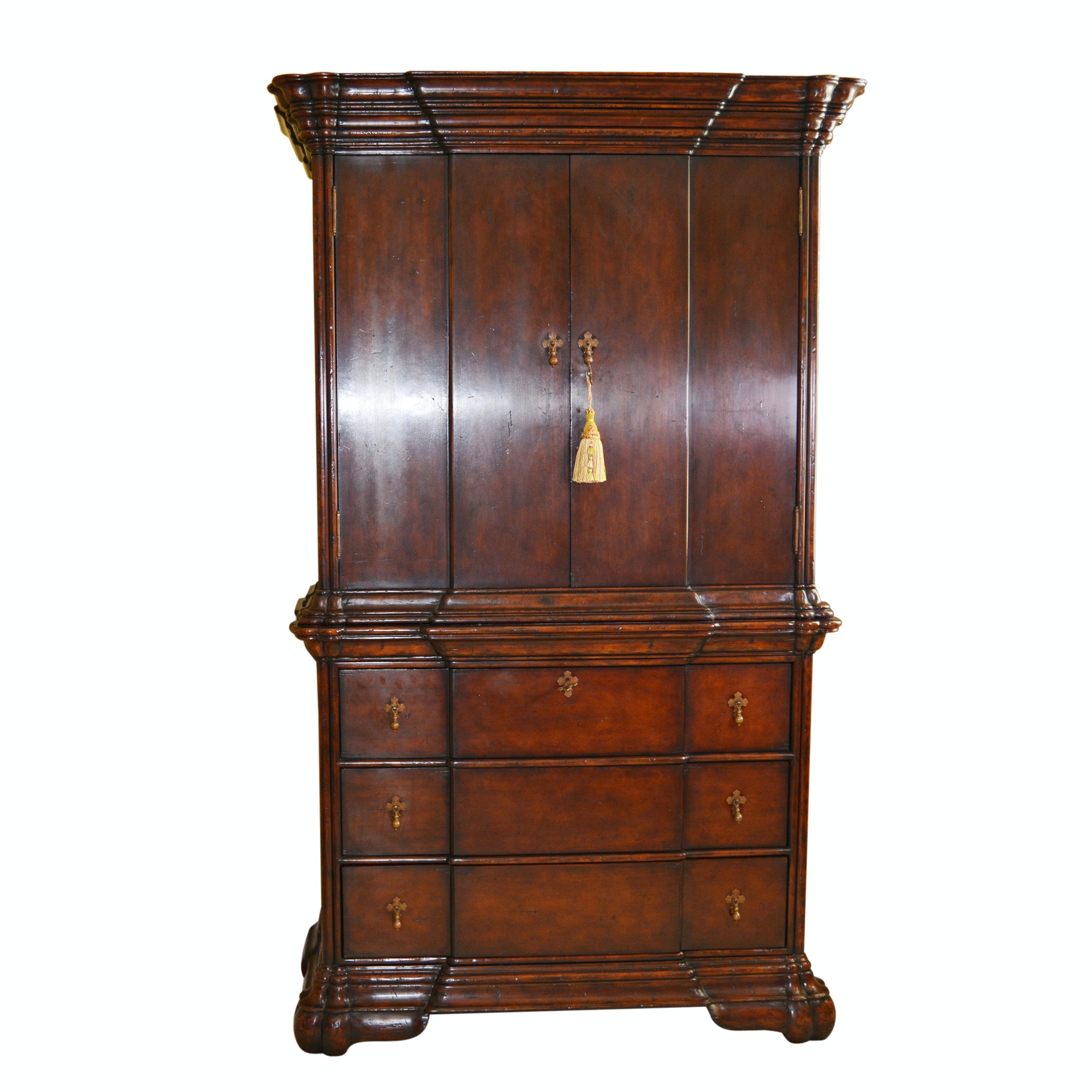 Dutch Style Breakfront Cabinet by Jonathan Charles Fine Furniture