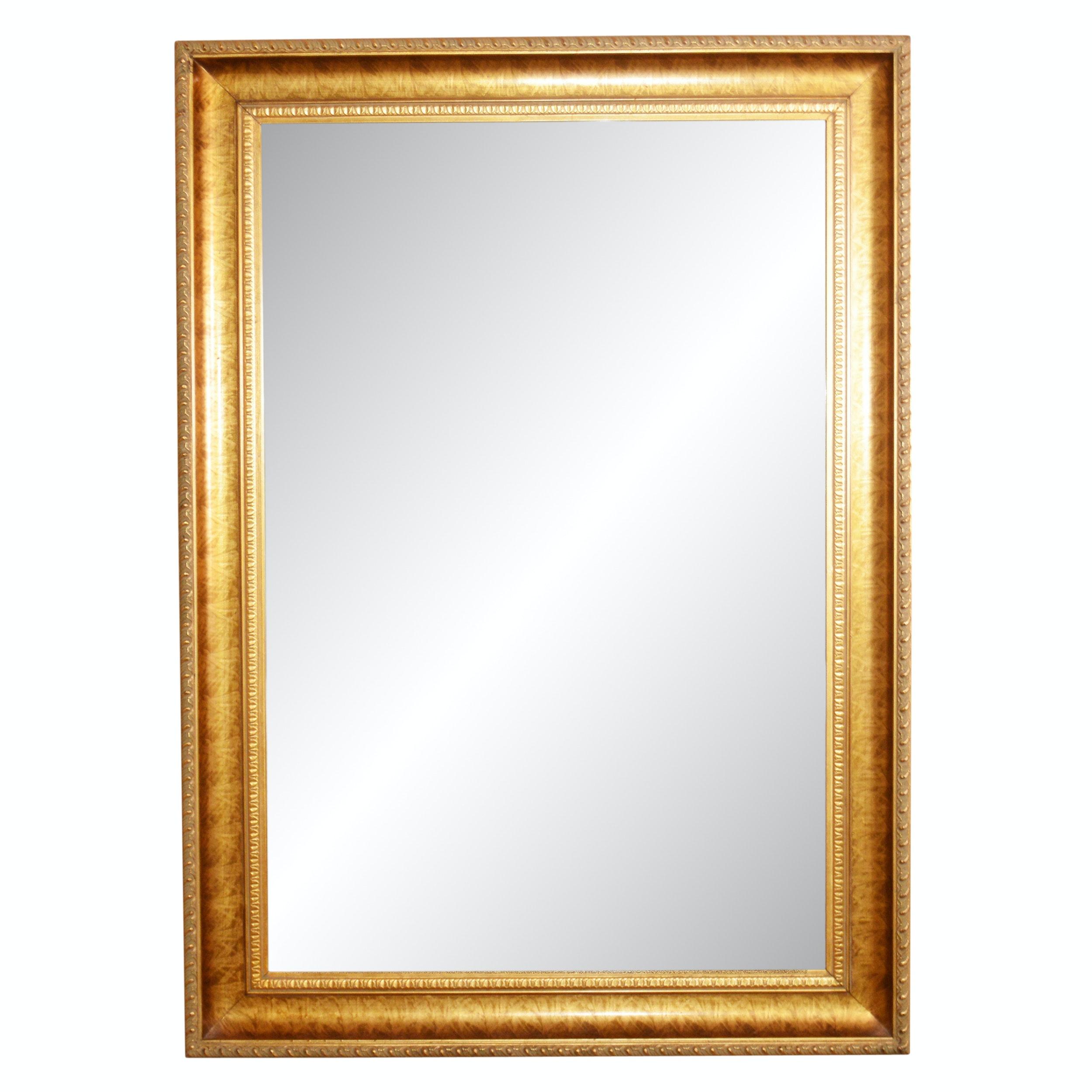 Rectangular Beveled Glass Wall Mirror