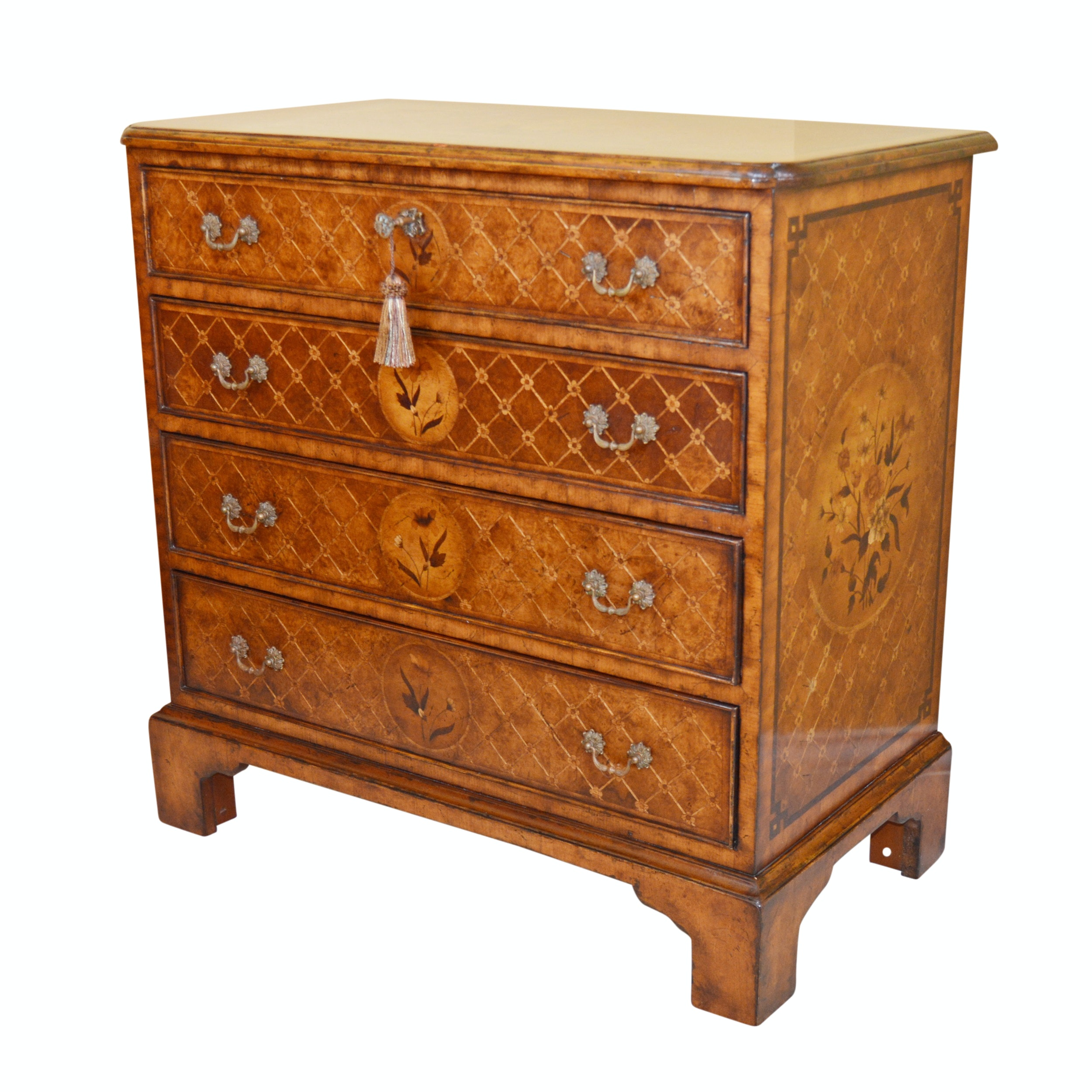 Floral Marquetry Chest of Drawers by Jonathan Charles Fine Furniture