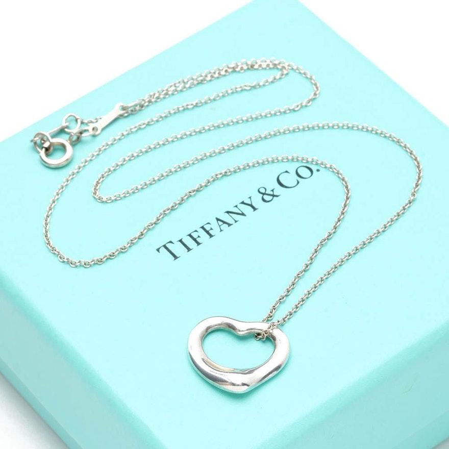 Elsa peretti for tiffany co open heart sterling silver pendant elsa peretti for tiffany co open heart sterling silver pendant necklace aloadofball Gallery