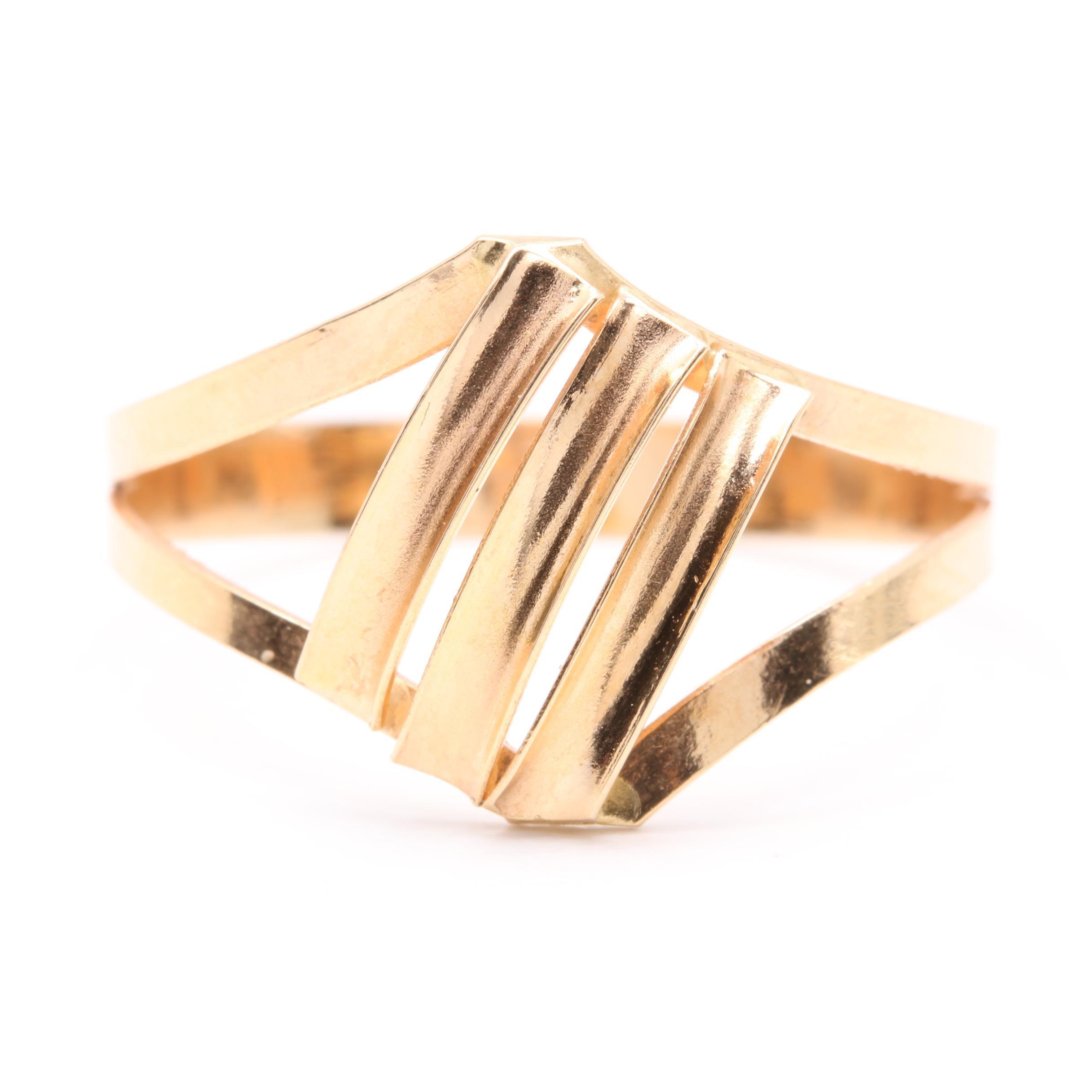 18K Yellow Gold Openwork Ring