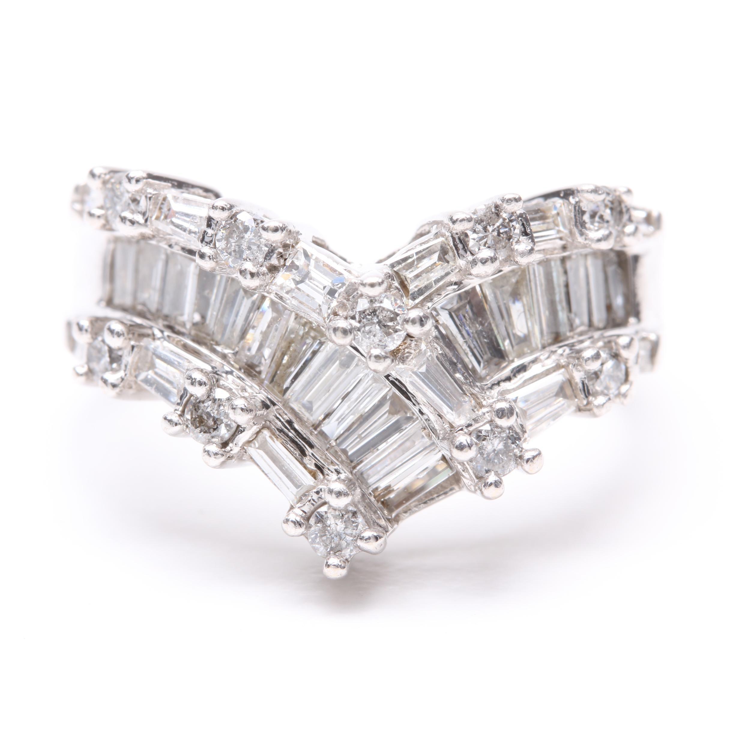 Alwand Vahan 14K White Gold 1.05 CT Diamond Ring