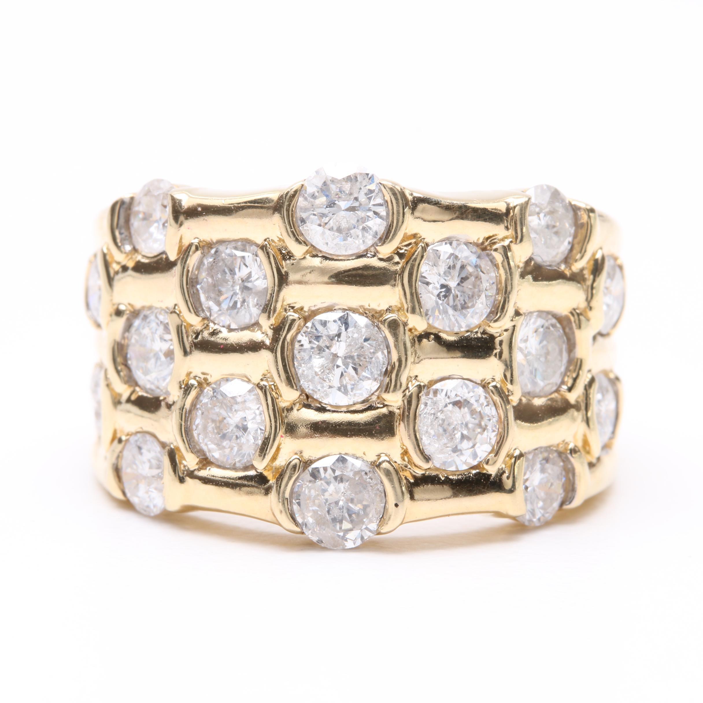 14K Yellow Gold 2.56 CTW Diamond Ring