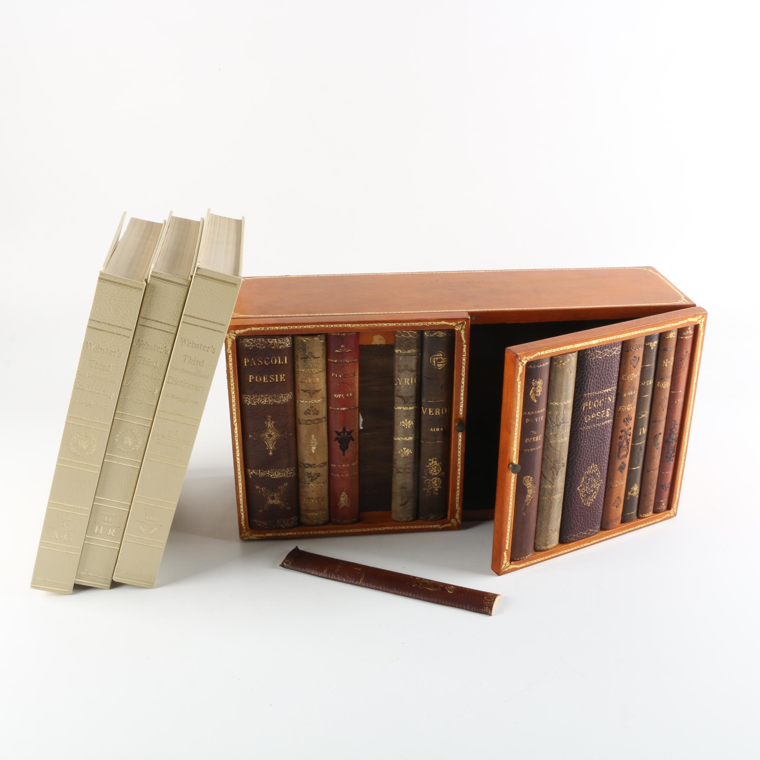 Webster's Third New International Dictionary with Bookcase Cabinet