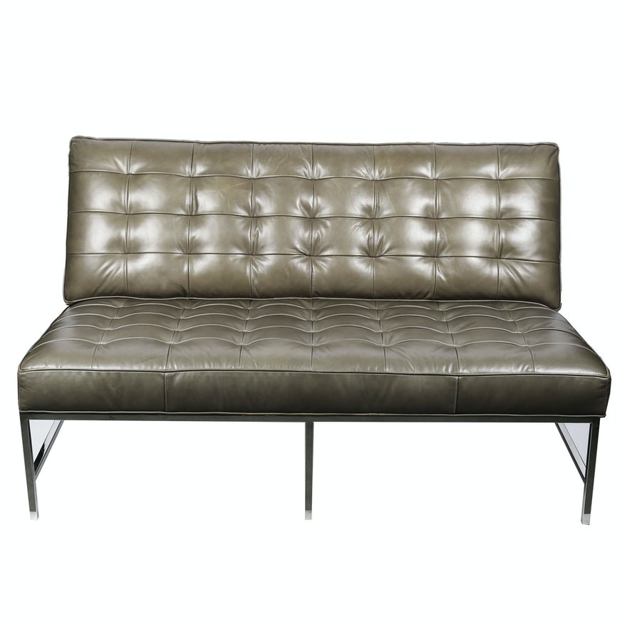 Wondrous Mitchell Gold Bob Williams Major Leather Loveseat Ibusinesslaw Wood Chair Design Ideas Ibusinesslaworg