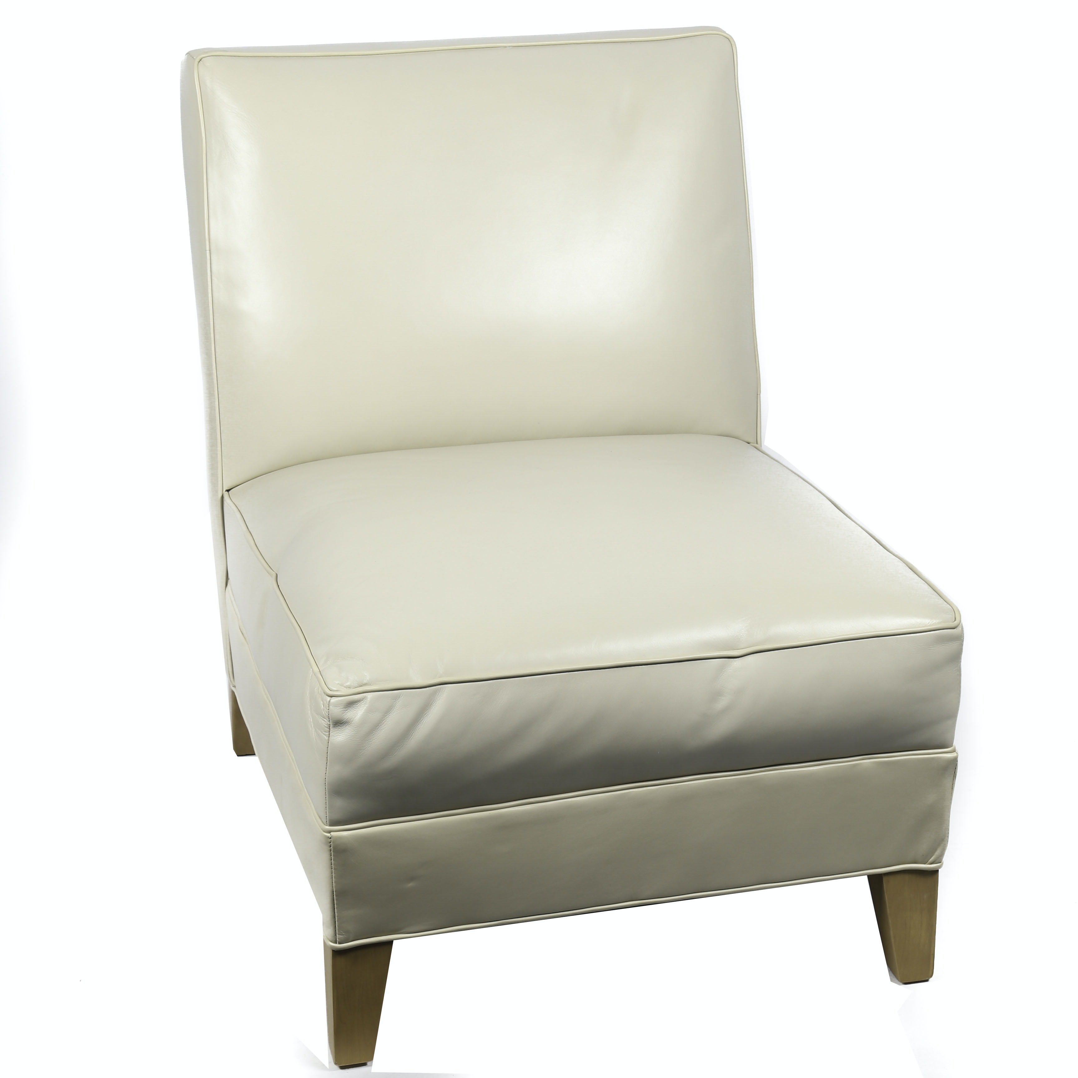 Mitchell Gold + Bob Williams Contemporary Leather Side Chair