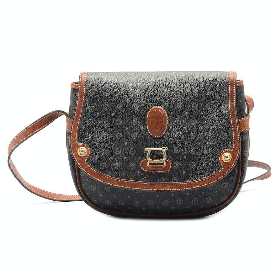 Vintage Pollini Leather Satchel Handbag