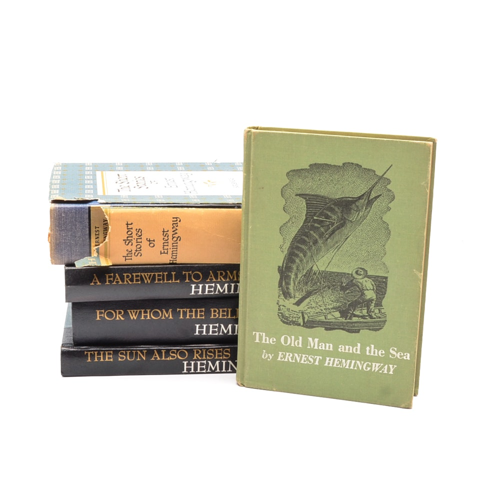 Group of Vintage Ernest Hemingway Hardcovers