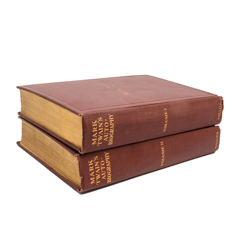 "1925 ""Mark Twain's Autobiography"" in Two Volumes"