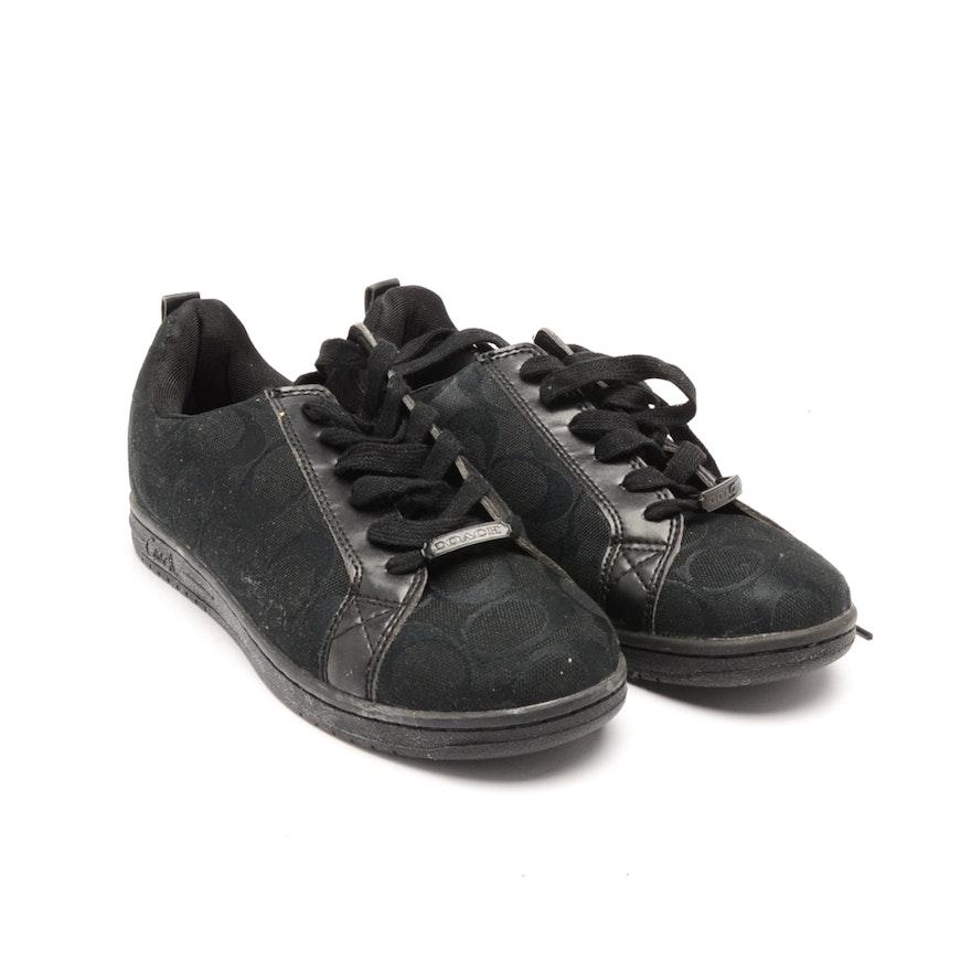 Coach Black Monogram Canvas Sneakers   EBTH 0d7a23631