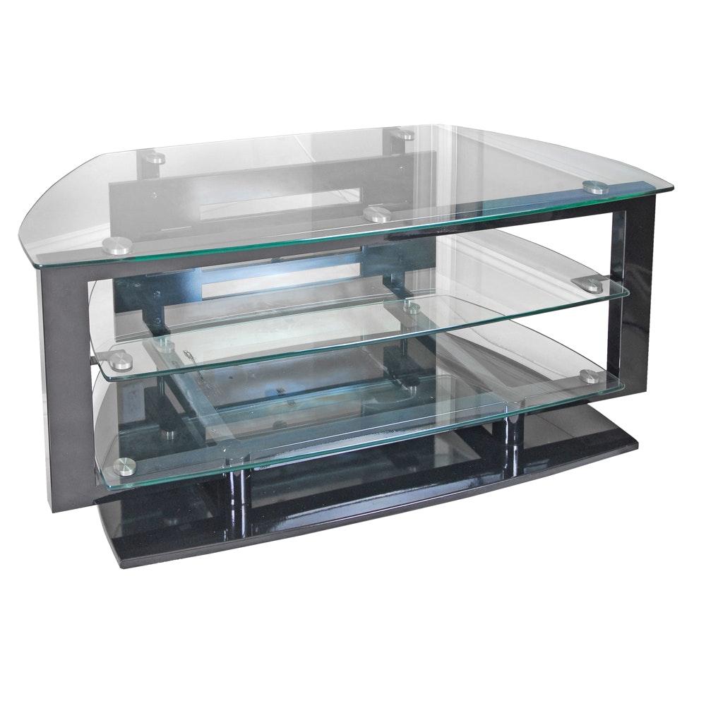 Tempered Glass Shelf Media Stand