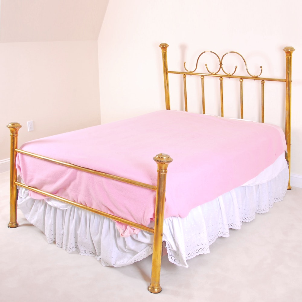 Vintage Brass Full Bed Frame by Classic Beds of Brass, Inc.