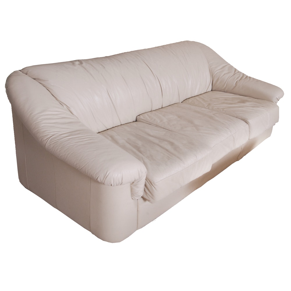 Faux Leather Sofa by Salotti Natuzzi