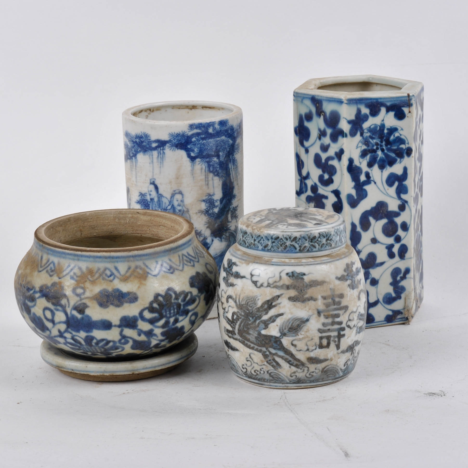 Chinese Blue And White Porcelain Planters ...