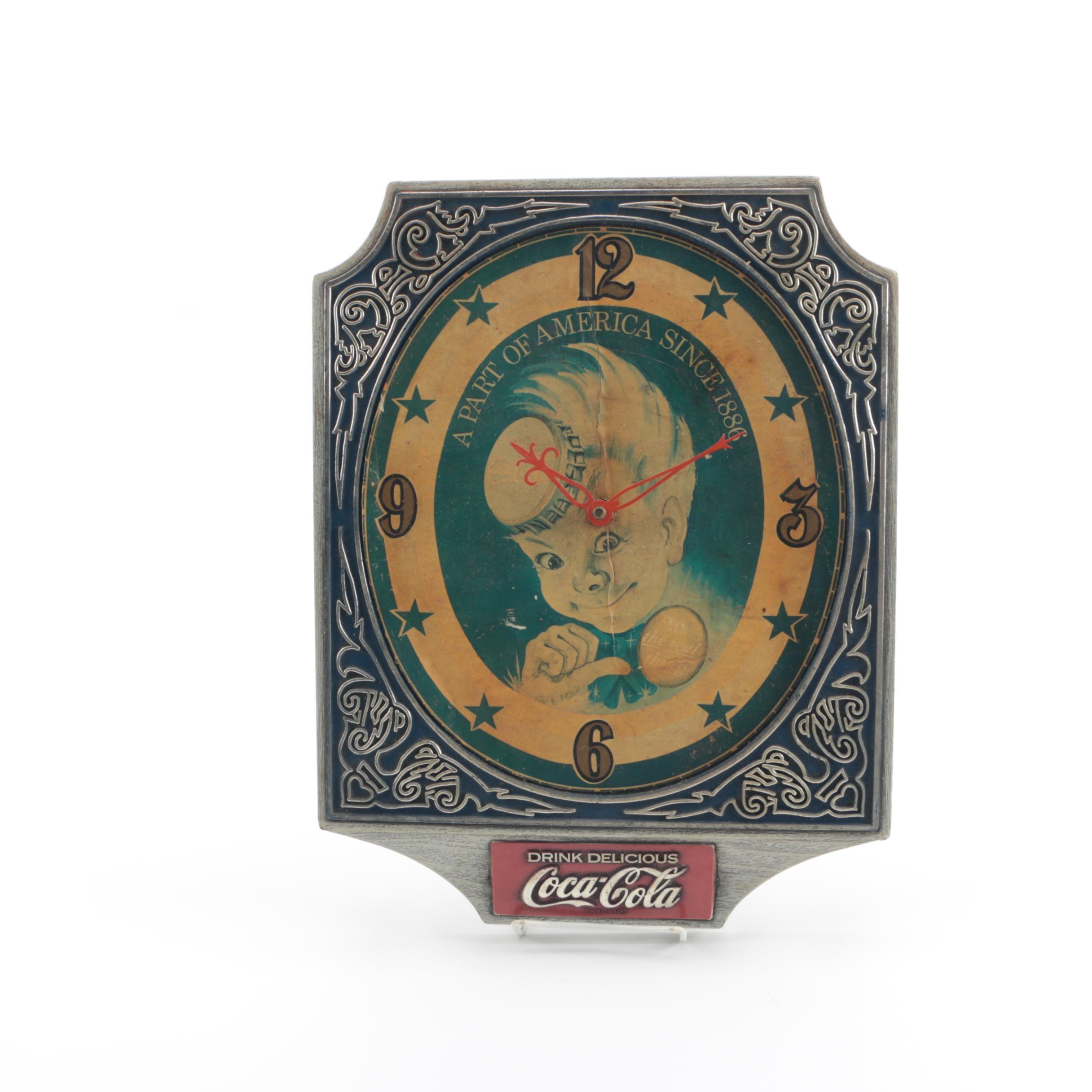 """1974 Coca Cola """"Sprite Boy"""" Wall Clock"""