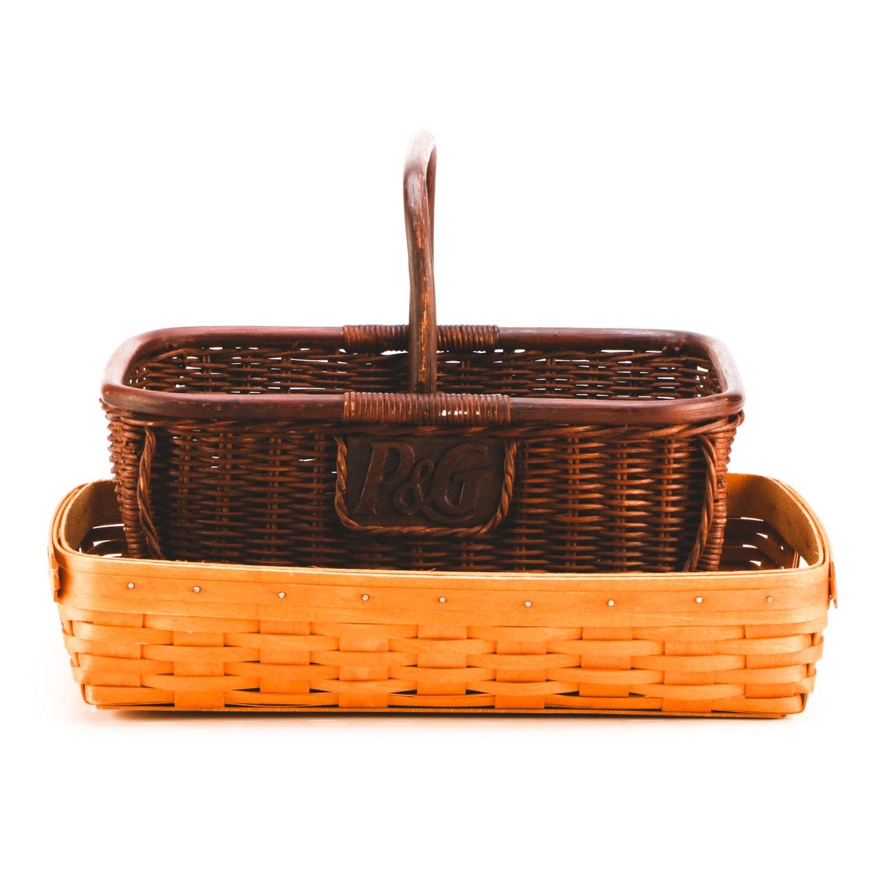 Pair of Decorative Baskets Featuring Longaberger